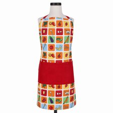 Eat Your Fruits and Veggies Apron, Fits Adults and Children