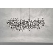 "<strong>Terzani</strong> Argent 12 Light Pendant 49.2"" Suspension White Iron Finish Pendant"