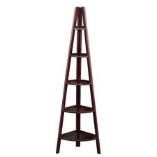 "72"" Corner Ladder Bookcase"