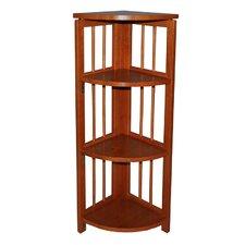 "Folding 38"" Corner Bookcase"
