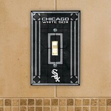 MLB Art Glass Switch Cover