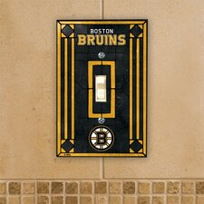 NHL Art Glass Switch Cover