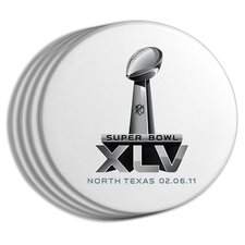 2011 Super Bowl Logo Coasters (Set of 4)