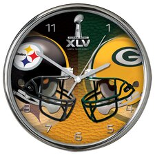 Super Bowl Dueling Wall Clock
