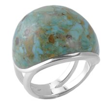 Basic Sterling Dome Turquoise Ring