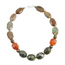 Harvest Sterling Single Strand Beaded Necklace