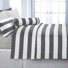 <strong>Echelon Home</strong> Cabana Stripe Duvet Cover Set