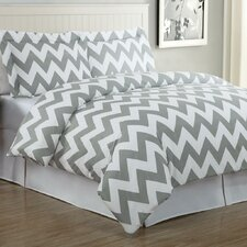 <strong>Echelon Home</strong> Chevron Duvet Cover Set