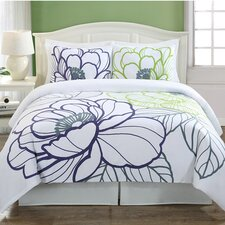 Floral Sketch 3 Piece Duvet Cover Set