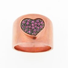 <strong>Meredith Leigh Designs</strong> Rose Sapphire Heart Band