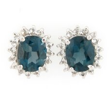 Opal and Round London Topaz Earrings