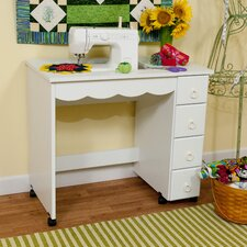 Shirley Wood Grain Laminate Sewing Cabinet