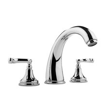 Double Handle Deck Mount Roman Tub Faucet Trim with Lever Handle