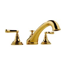 <strong>Meridian</strong> Double Handle Deck Mount Roman Tub Faucet with Lever Handle