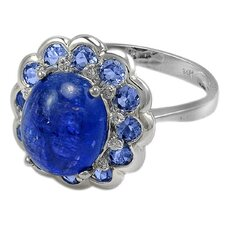 Genuine White Gold Tanzanite Ring