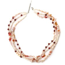 Gemstone and Cultured Pearl Strand Necklace