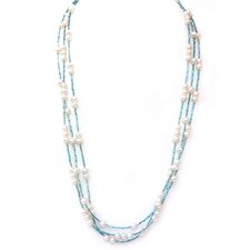Glass and Pearl Strand Necklace