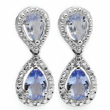 Pear Cut Tanzanite Drop Earrings