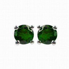 Round Diopside Stud Earring