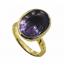 <strong>DeBuman</strong> Gold over Silver Genuine Gemstone Ring