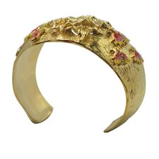 Bees and Flowers Cuff Bracelet
