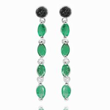 Dangle Gemstone Drop Earrings