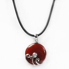 <strong>DeBuman</strong> Sterling Silver Round Cut Agate Necklace