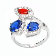 Sterling Silver Flower Birthstone Ring