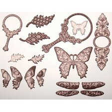 <strong>Tattered Angels</strong> Self-Adhesive Chipboard Embellishments