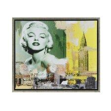 Marilyn and the Chrysler Framed Graphic Art