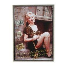 Marilyn, A World Class Traveler Framed Graphic Art