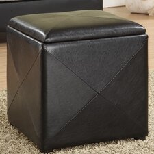 <strong>Modus Furniture</strong> Milano Leatherette Cube Ottoman