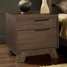 Portland 2 Drawer Nightstand