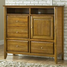 <strong>Modus Furniture</strong> City II 4 Drawer Media Gentleman's Chest