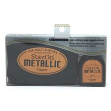 StazOn Metallic Ink Pad with Re-Inker