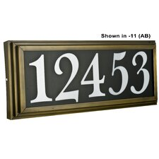 "4 Light Large Stepped 4"" Light Address Plaque"