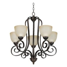<strong>Sunset Lighting</strong> Provano 5 Light Chandelier