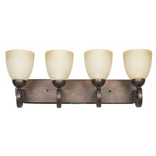 <strong>Sunset Lighting</strong> Provano 4 Light Bath Vanity Light