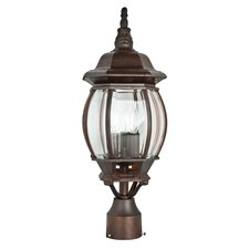 French 3 Light Outdoor Post Lantern