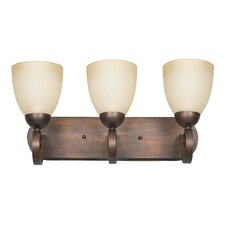 <strong>Sunset Lighting</strong> Provano 3 Light Bath Vanity Light