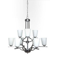 Meridian Halo 9 Light Chandelier