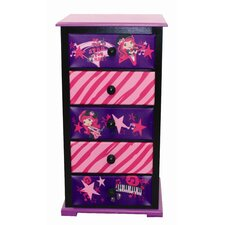 American Greetings Strawberry Shortcake Rocks 5 Drawer Chest