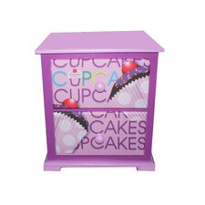 Cup Cake Collection Lavender Nightstand
