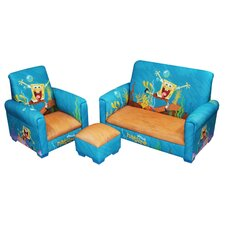<strong>Newco Kids</strong> SpongeBob SquarePants Toddler 3 Piece Seating Group