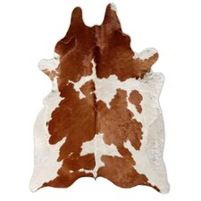 Natural Cowhide Brown and White Rug