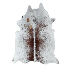 Natural Cowhide Brown Freckles Area Rug