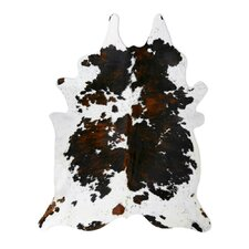 Natural Cowhide Tri-color Rug