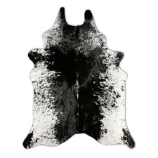 Natural Cowhide Grey Freckles Rug