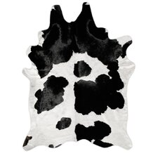 Natural Cowhide Black and White Rug