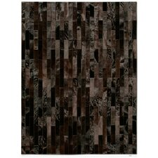 <strong>Pure Rugs</strong> Patchwork Cowhide Linea Brownie Rug
